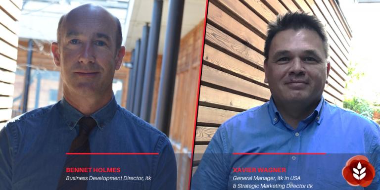BENNET HOLMES, Business development director, itk  ; XAVIER WAGNER, Directeur marketing stratégique Groupe et  General Manager, itk USA