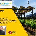 itk à Agrivoltaïcs 2020 : «Définir les meilleures stratégies d'ombrage dynamique avec SunAgri3»